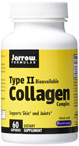 SHIP BY USPS: Jarrow Formulas Type 2 Collagen, Supports Skin and Joints, 500 mg, 60 Caps