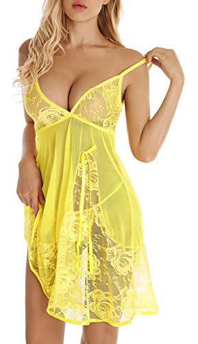 Womens Babydoll Lingerie Set Plus Size