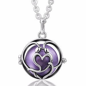 "EUDORA In Love Harmony Bola Angel Chime Caller 20mm Mexican Ball Pregnant Pendant Prayer 30"" Necklace"