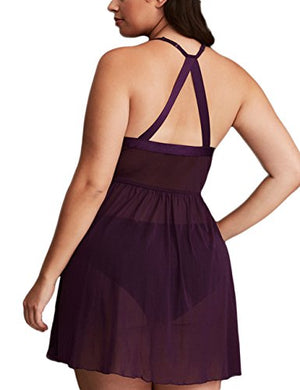 FeelinGirl Plus Size Sexy Babydoll Set for Women XL-4XL