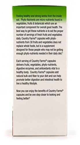 [2 Bottles} Country Farms Super Fruit and Veggies Capsules, 30 Fruits and Vegetables, 30 servings