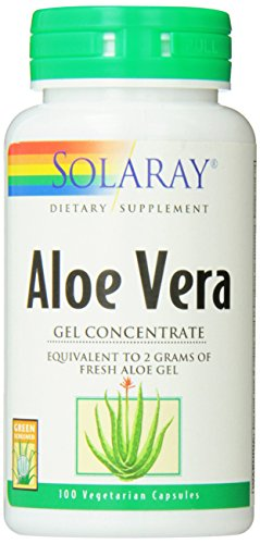 SHIP BY USPS: Solaray Aloe Vera Gel, 2000 mg, 100 Count