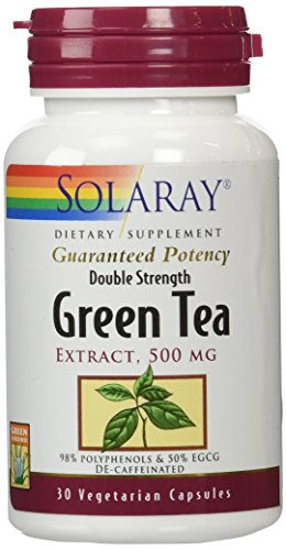 SHIP BY USPS: Solaray Green Tea Double Strength Capsule, 500mg,...