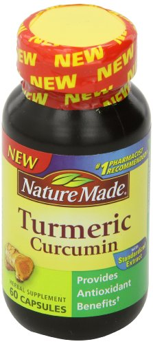 SHIP BY USPS: Nature Made Turmeric Antioxidant Herbal Supplement 500 Mg, 60 Capsules