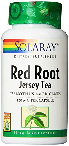 SHIP BY USPS: Solaray Red Root Capsules, 420 mg, 100 Count