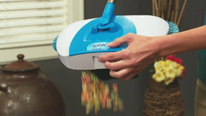 Hurricane Spin Broom by BulbHead, the Original Cordless Sweeper Broom and Spinning Hard Floor Cleaner