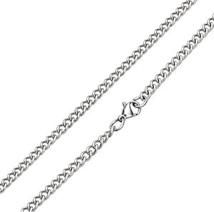 SHIP BY USPS FIBO STEEL 4MM Stainless Steel Cross Necklace for Men Women Chain Necklace, 22-24 inches
