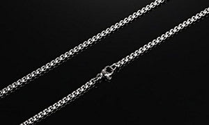 SHIP BY USPS: Mens Women's Celtic knot Magic Double Side Solid Heavy Pendant Necklace Men's Stainless Steel Box Chain Jewelry
