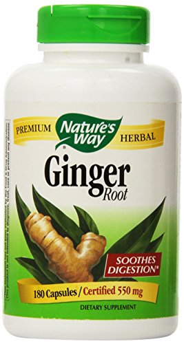 SHIP BY USPS: Nature's Way Ginger Root 500 mg, Capsules 180 ea