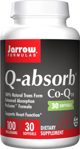 SHIP BY USPS: Jarrow Formulas Q-Absorb Co-Q10, Supports Heart Function, 100 mg, 30 Count