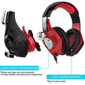 Gaming Headset for PS4 PSP Xbox one Tablet i Phone Ipad Sam sung Smartphone Led Light GM-1 Headphone with Adapter Cable for PC