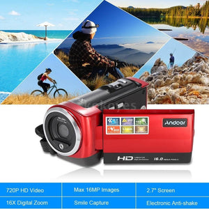HD 720P 16MP 2.7''LCD 16X ZOOM Digital Video Camcorder Camera DVR HDV Black