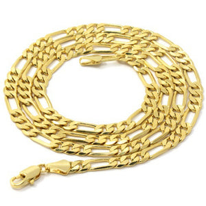 "BEST QUALITY Men's 14k Gold Plated Line Sharp Cross Pendant Hip-Hop 24"" 5mm Chain  US SHIPPING"