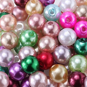 3mm 1000pcs Tiny Satin Luster Glass Beads Imitation Pearl Round Loose Beads Wholesale for Jewelry Making