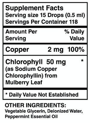 SHIP BY USPS Liquid Chlorophyll Dietary Supplement. Natural Herbal Drops Are Potent and Effective, Easy to Take, Absorb...