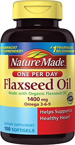 SHIP BY USPS Nature Made Organic Flaxseed Oil 1400 mg 700mg Omega 3 100 Liquid Softgels