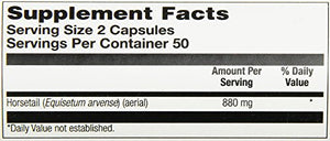 SHIP BY USPS: Solaray Horsetail Capsules, 440 mg, 100 Count
