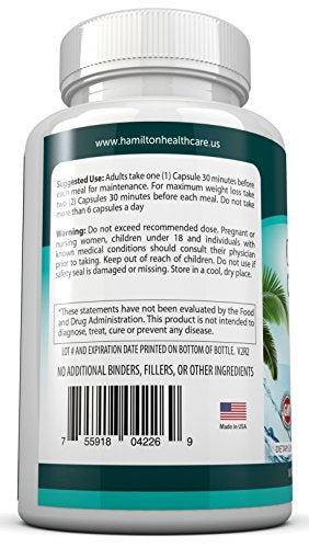 SHIP BY USPS: 80% HCA Garcinia Cambogia Extreme Fast Acting Capsules. All Natural Appetite Suppressant and Weight Loss...