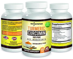 SHIP BY USPS: Turmeric Curcumin 1500mg 2 month supply - Maximum Pain Releif - 120 Capsules with Black Pepper Extract -...