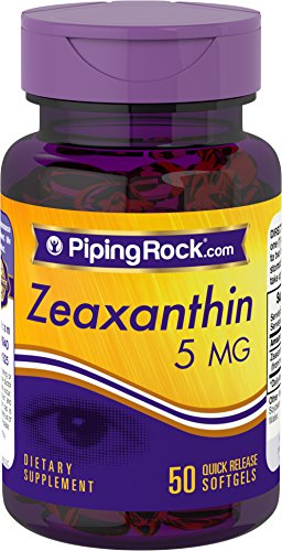 Piping Rock Zeaxanthin 5 mg 50 Quick Release Softgels Dietary Supplement