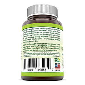 SHIP BY USPS Herbal Secrets Apple Cider Vinegar 500mg 120 Capsules