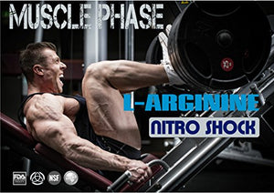 SHIP BY USPS: 1 Bottle * MUSCLE PHASE L-ARGININE NITRO SHOCK PLUS * Advanced Formula Enhances Muscle Growth...