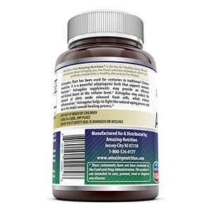 SHIP BY USPS: Amazing Formulas Astragalus All Natural Dietary Supplement – 1000 mg 120 Capsules Made From Pure...