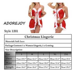 Christmas Lingerie with Various Styles for Women Sexy Santa Sleepwear Red