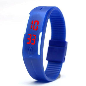Men Women Kids Digital Wristwatch Touch Screen LED Bracelet Silicone Band Watch (8 Pack)