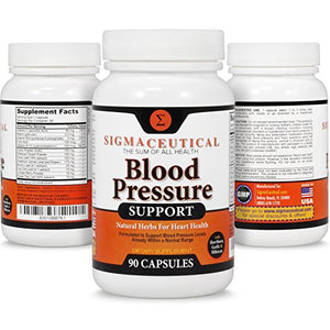 [2 Bottles] Premium Blood Pressure Support Formula - High Blood Pressure Supplement w/ Vitamins, Hawthorn Extract, Olive...