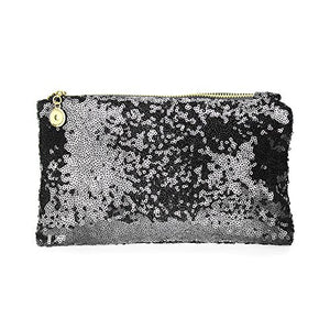 SHIP BY USPS: EYX Formula Lady Fashion Dazzling Glitter Sparkling Bling Sequins Handbag Cosmetics Bag ,Retro Luxurious Shining Clutch Purse Evening Party Bag for Wediing Party