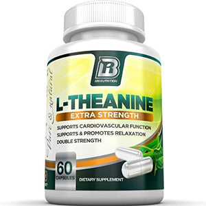 SHIP BY USPS BRI Nutrition 200mg L-Theanine Enhanced with 100 mg of Inositol - 60 Count 200mg L Theanine Veggie Capsules