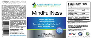 SHIP BY USPS: MindFullNess Herbal Dietary Supplements, Brain Function Booster & Cognitive Enhancer, Anxiety & Stress...
