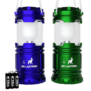 [2 Pack] LED Camping Lantern Flashlights Camping Equipment - Great for Emergency, Tent Light, Backpacking, 2 Pack Gift Set