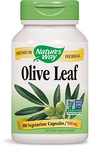 SHIP BY USPS: Nature's Way Olive Leaf, 100 Capsule, 500 mg