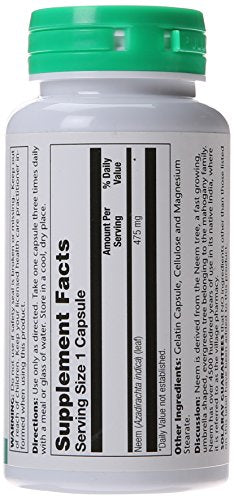 SHIP BY USPS: Solaray Neem, 475 mg, 100 Count