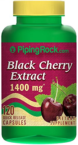 Piping Rock Black Cherry 1400 mg 120 Quick Release Capsules Dietary Supplement