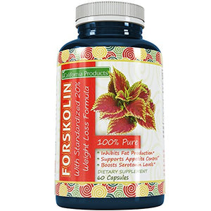 SHIP BY USPS 100% Pure Forskolin Extract 60 Capsules (Best Coleus Forskohlii on the Market) - Highest Grade Weight Loss...