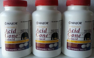 [3 PACK] EXTRA STRENGTH ACID GONE™ ANTACID CHEWABLE TABLETS 100 CT *COMPARE TO THE...
