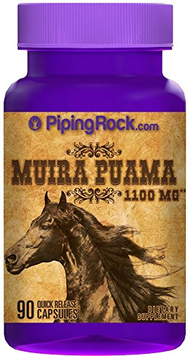 Muira Puama 1100 mg 90 Quick Release Capsules Dietary Supplement