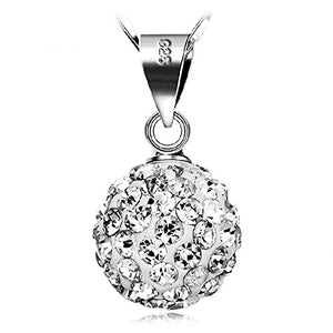 SHIP BY USPS: Injoy Jewelry Women Jewelry Set, Round Rhinestone Crystal Ball Pendant Necklace and Stud Earrings Set for Women Girls