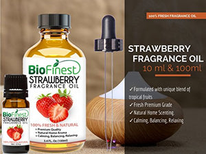 BioFinest Strawberry Fragrance Oil - 100% Pure & Natural - Fresh Home Scent - Air Refresher - Relaxing Aromatherapy -...