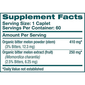 SHIP BY USPS: Himalaya Organic Bitter Melon/Karela, 60 Caplets for Balanced Blood Sugar Level, 660 mg, 1 Month...