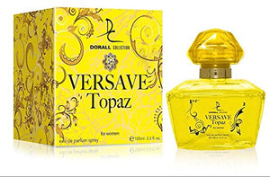 SHIP BY USPS VERSAVE TOPAZ BY DORALL COLLECTION PERFUME FOR WOMEN 3.3 OZ / 100 ML EAU DE PARFUM SPRAY