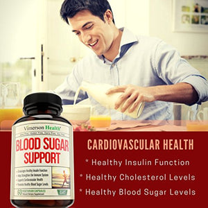Blood Sugar Supplement for Healthy Heart - Controls Glucose, Insulin & Cholesterol. Supports Immune Health....