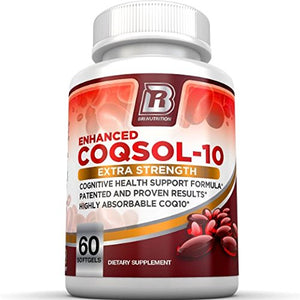 SHIP BY USPS BRI Nutrition COQ10 Ubiquinone - 2.6x Higher Total Coenzyme Q10 COQSOL® Absorption than normal COQ10 -...