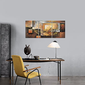 Modern 3 Panel Stretched and Framed Giclee Canvas Prints Abstract Landscape Pictures Paintings on Canvas Wall Art Work Ready to Hang for Living Room Bedroom Kitchen Home Decorations AH3042
