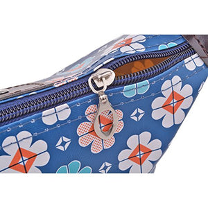 SHIP BY USPS: Parateck Zipper Closure Waterproof Makeup Bag Cosmetic Pouch Travel Bag Tote for Women Girls (Blue)