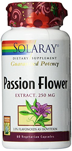 SHIP BY USPS: Solaray Passion Flower Extract Supplement, 250 mg, 60 Count