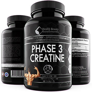 SHIP BY USPS: 1 Bottle * ANABOLIC CREATINE MONOHYDRATE BLACK EDITION *Best Lab Tested Creatine Pills - Phase 3...